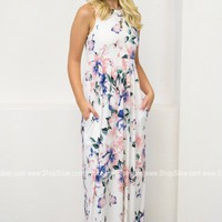 Floral Flush Pocket Maxi Dress