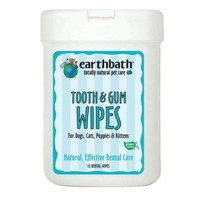 Earthbath Tooth Gum Wipes for Pets   Dog - Dental Care