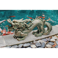 Park Avenue Collection Asian Dragon Of The Great Wall Statue