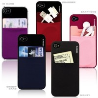 Sinjimoru Sinji Pouch Adhesive accessory pocket for all iPhone, iPod Touch, Galaxy S & Android smart phones - BLACK