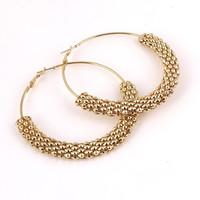 Mesh Chain Gold Hoops