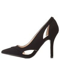 Cut-Out Pointed Toe Pumps by