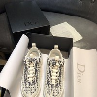 DCCK Dior Men's Leather Fashion Sneakers Shoes