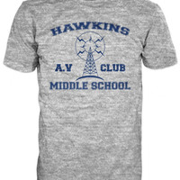 HAWKINS MIDDLE SCHOOL A.V Club T-shirt inspired by Stranger Things