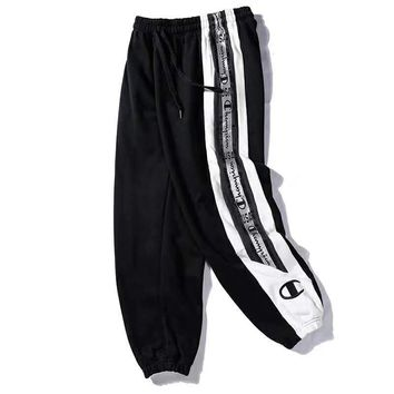 Champion Newest Trenidng Casual Print Drawstring Sport Stretch Pants Trousers Sweatpants