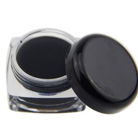 Black Waterproof Eyeliner Shadow Eye Liner Gel Makeup Cosmetic With Brush