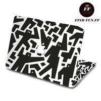 back cover of decal Macbook Air Sticker Macbook Air Decal Macbook Pro Decal 小黑人-055