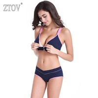 ZTOV Maternity Nursing Underwear Bra+panties set prevent sagging Sports bra for pregnant women Pregnancy Breastfeeding Clothes