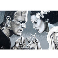 Lowbrow Art Company Amorous Libation Art Print by Artist Mike Bell