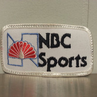 Vintage 70's White NBC Sports Hat Patch Throwback Logo Craft