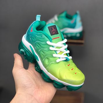 Nike Air VaporMax Plus Green White Toddler Kid Running Shoes Child Sneakers - Best Deal Online