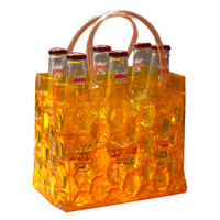 Chill It Beer Bottle Bag 6 - Tangerine