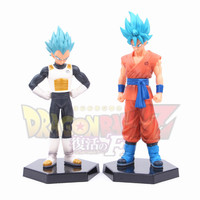 Hot NEW 2pcs 18cm DragonBall Dragon Ball Z Super Saiyan vegeta Son Goku Kakarotto action figure toys