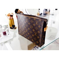 Women Makeup Bags Handbag Men's Business Bag Louis Vuitton Classic Clutch Bag