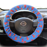 Steering-wheel-cover-for-wheel-car-accessories-Floral-Blue-Steering-Wheel-cover