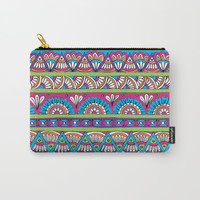 Patterned Stripes Carry-All Pouch by Sarah Oelerich
