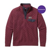 Patagonia Men's Cotton Quilt Snap-T Pullover | Oxblood Red