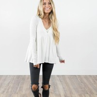 Laurette Baby Doll Top in Ivory Plus Pack