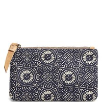 Lucky Brand Small Canvas Pouch Womens - Navy Print (One Size)