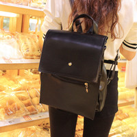 PU Leather Retro Vintage Style Backpack