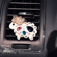 Luxury Car Perfume Stand Air Freshener Car Purifier Scent Crystal Sheep decorate