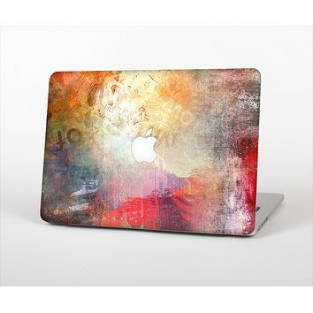 The Grungy Colorful Faded Paint Skin Set for the Apple MacBook Air 11""
