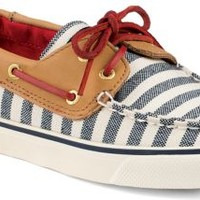 Sperry Top-Sider Bahama Breton Stripe 2-Eye Boat Shoe Navy/Cognac, Size 12M  Women's Shoes