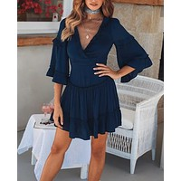 Jax Navy Dress