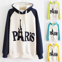 A 091108 Embroidered Hooded Sweater Letters