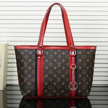 LOUIS VUITTON LV Women Fashion Leather Handbag Tote Shoulder Bag Satchel