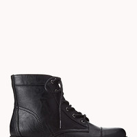 FOREVER 21 Prairie Chic Lace-Up Booties