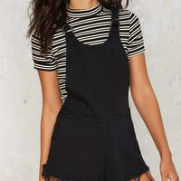 Knock Hem Dead Denim Shortalls