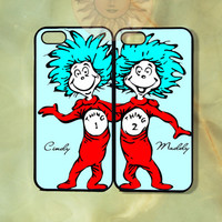 Blue Thing 1 and thing 2 Best Friends iPhone 5, 5s, 5c, 4s, 4, ipod touch 4, 5, Samsung GS3 GS4-Silicone Rubber or Hard Plastic cover