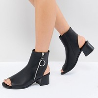 ASOS DESIGN Raven Zip Shoe Boots at asos.com