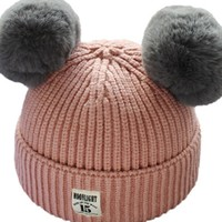 Toddler Cute Knitted Solid Pompom Decor Hat for Baby at PatPat.com
