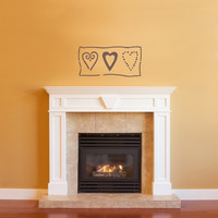 Country Hearts Wall Decal