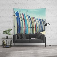 California surfboards Wall Tapestry by sylviacookphotography