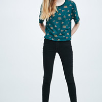 BDG Racoons Contrast Tee in Green - Urban Outfitters