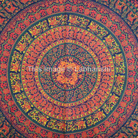 Queen Hippie Hippy Wall Hanging , Indian Mandala Tapestry Throw Bedspread , Dorm Tapestry , Decorative Wall Hanging , Picnic Beach Sheet
