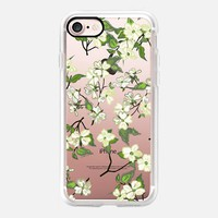 April blooms(Dogwoods-clear) iPhone 7 Case by Kanika Mathur | Casetify