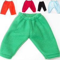 "American Girl Bitty Baby Clothes 15"" Doll Clothes Boy or Girl 1 pair of Fleece Sweatpants Pants Orange, Red, Blue,White, or Green"