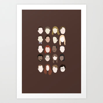 the office minimalist poster Art Print by Holly Ent