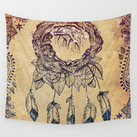 The Dreaming Tree III Wall Tapestry by Jenndalyn
