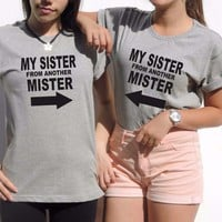 2 matching Best Friends t Shirts Sister From Another Mister Bestfriends gift bff