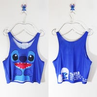 Ohana Means Family Crop Tank Top