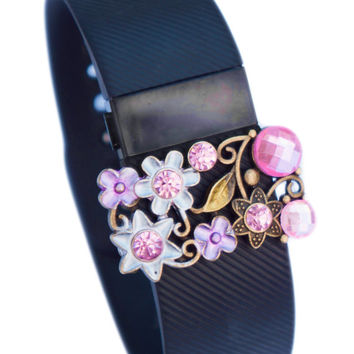 Fitbit Jewelry Accessories - Fitbit Charge/Charge hr bling - PINK