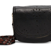 TOMS black patterned perforated leather jetset hip pack