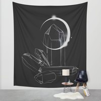 Crystalline Wall Tapestry by Ducky B
