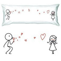 """BOLDLOFT® """"From My Heart to Yours"""" Body Pillowcase-Matching Couple Gifts,Christmas Gifts for Her,Valentines Day Gifts for Girlfriend,Romantic Anniversary Gifts for Her"""
