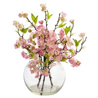 Artificial Flowers -Cherry Blossom In Large Vase Silk Flowers